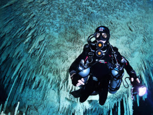 TDI Stage Cave Diver