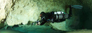Diver With Kiss Sidekick Rebreather