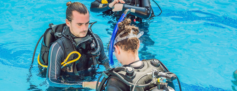 Divers On a Training