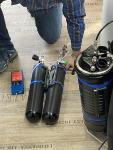 setting up rebreathers for diving